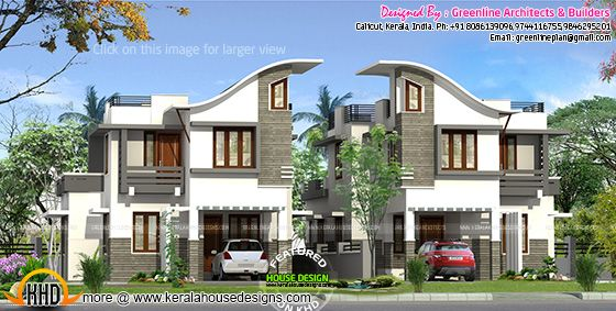 Twin house plan