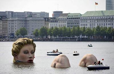 Huge Statue in Water