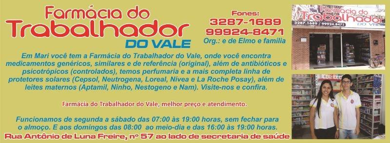 FARMÁCIA DO TRABALHADOR DO VALE