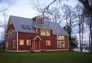 this beautiful barn home is located on Lake Champlain in Vermont