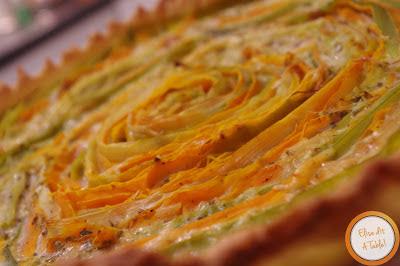 recette tarte carottes et poireaux