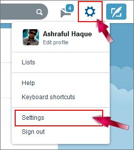 Twitter mobile settings