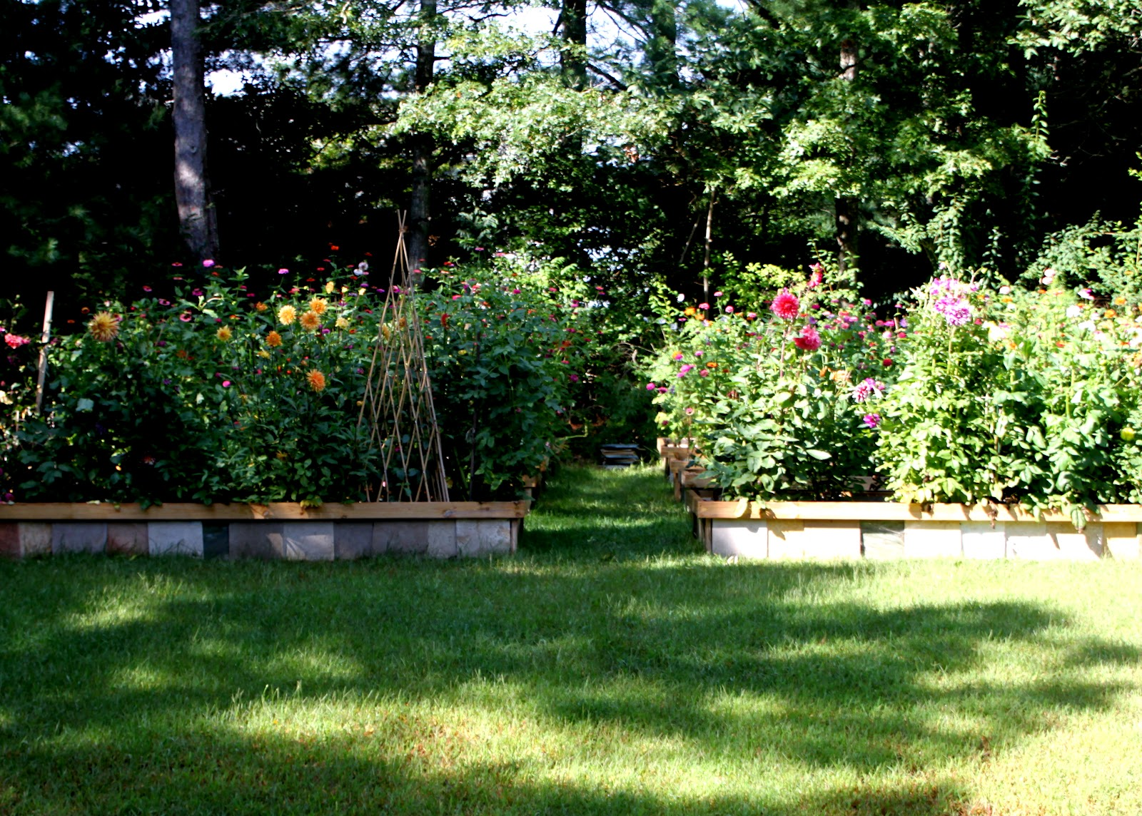 Backyard Flowers : Beautiful Backyard Flower Gardens Backyard cutting flower garden
