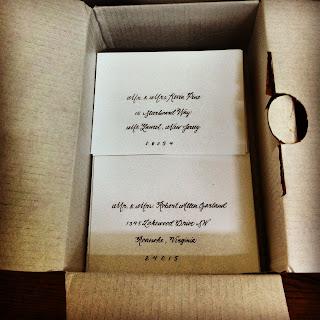 calligraphy wedding invites