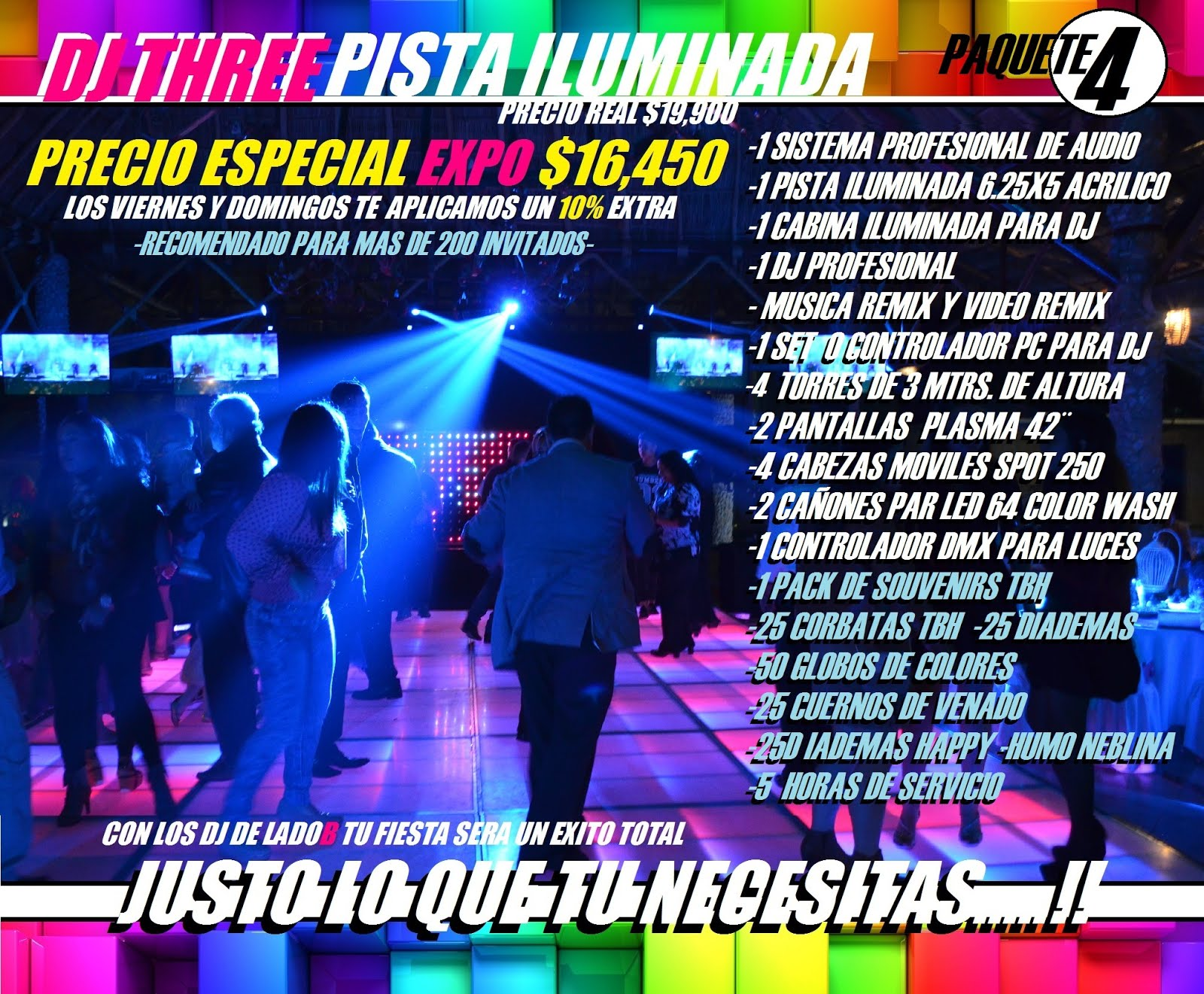 ECONOPACK 4 MAS PISTA DJ TWO LADO B