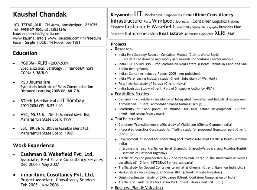 Chronological vs functional resume examples