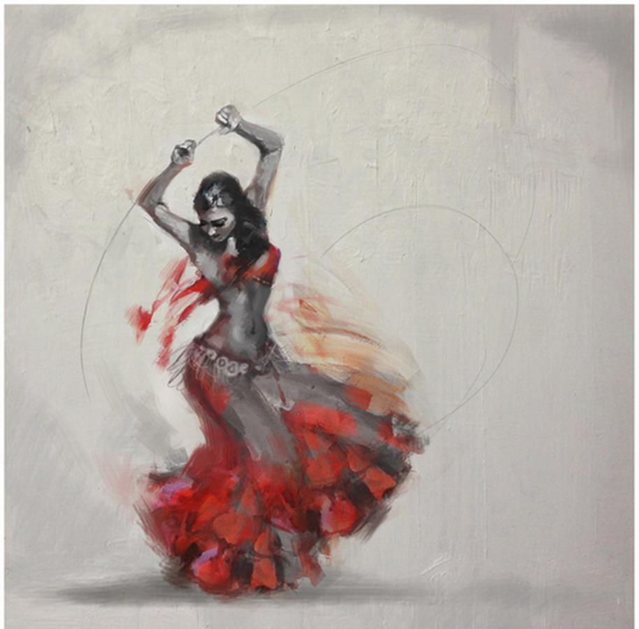 bailarinas danzando msica rabe cuadros modernos cuadros con mujeres bailarina cuadros de bailarinas en acrlico