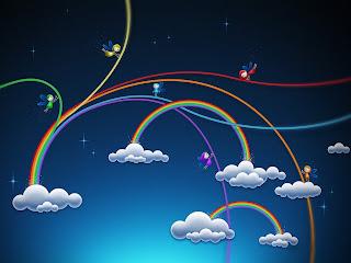 3D duge i oblaci slike besplatne pozadine za desktop download