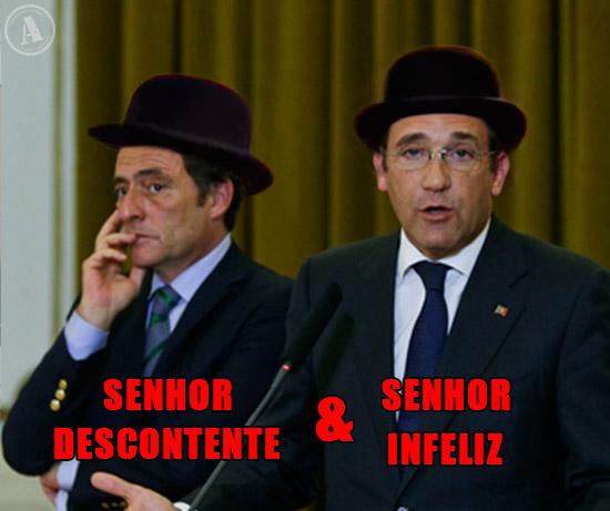 Imagem de Pedro Passos Coelho e Paulo Portas - Senhor Descontente & Senhor Infeliz