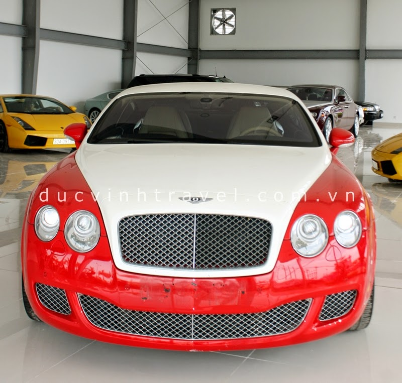Cho thuê xe Bentley Continental GT Đỏ siêu sang