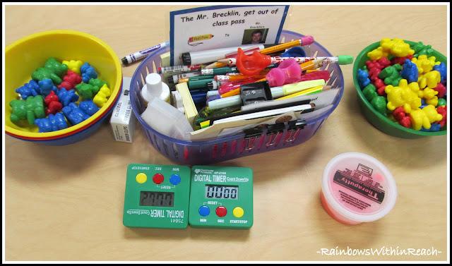 photo of: Writing Bucket of Materials