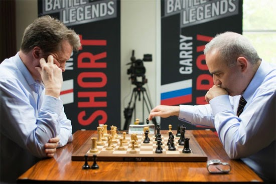 Kasparov vs Short les 25 et 26 avril