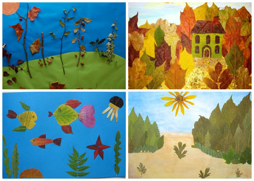 Коллаж из листьев 6