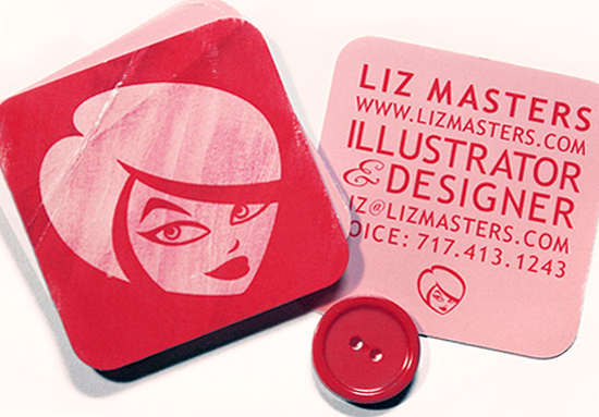 illustrator and designer business cards square with round corners printed by GotPrint.com