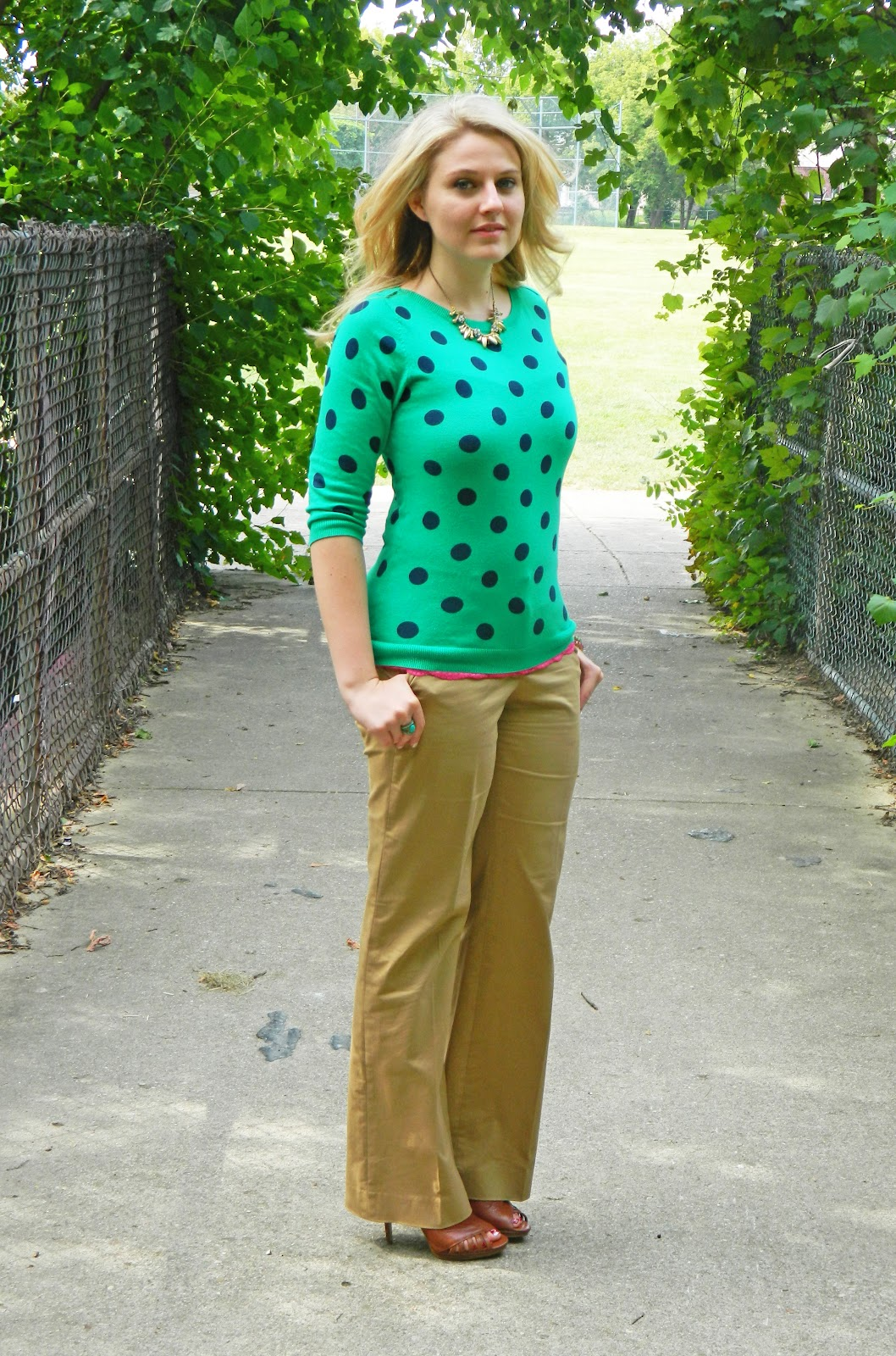 caravan of style: polka dot sweater
