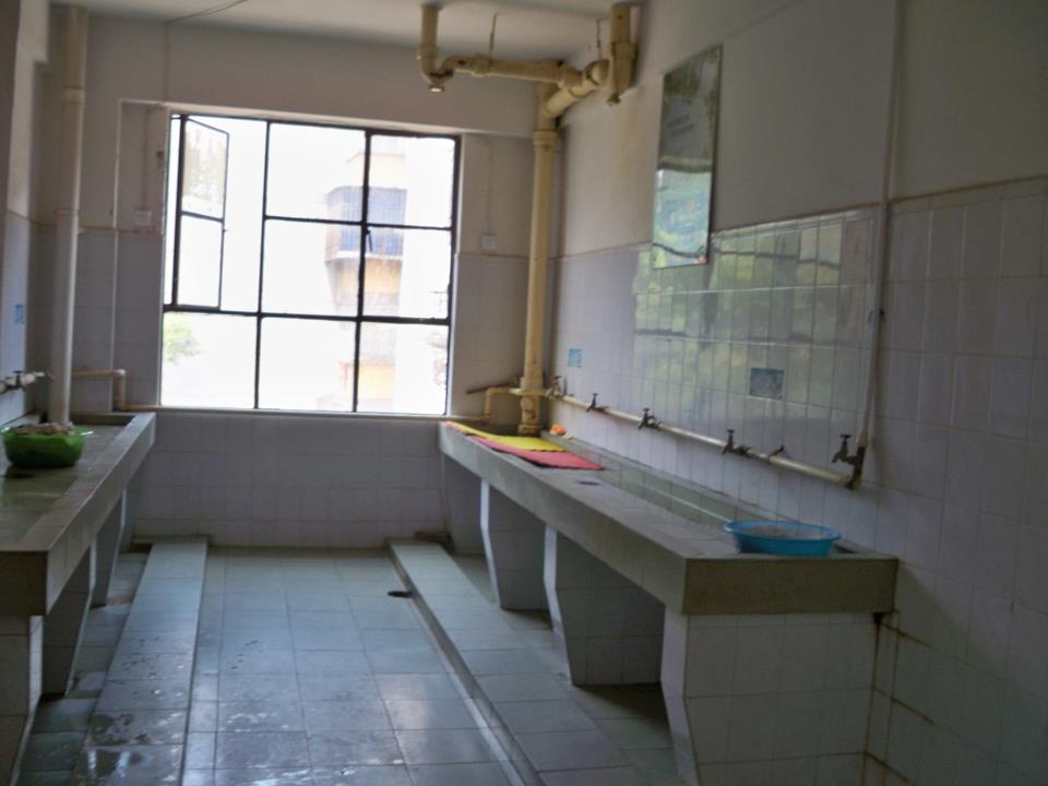 Bathroom Sinks At Yunnan University International Dorms.