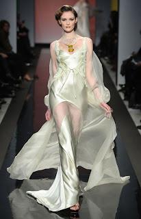 Vanessa Lekpa haute couture romantique Gattinoni mousseline de soie