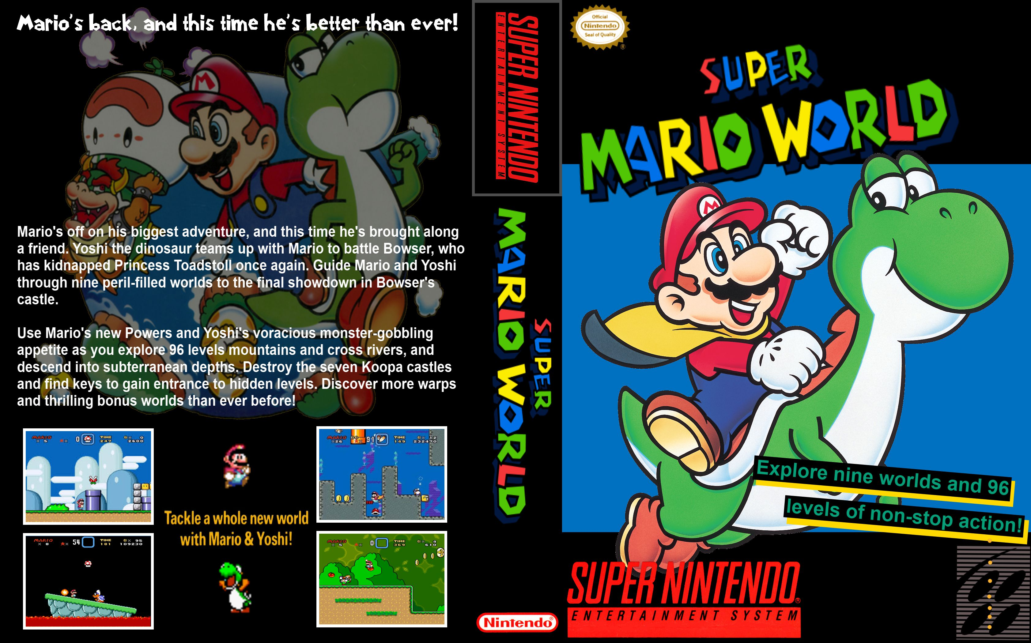 Capa Super Mario World Super Nintendo