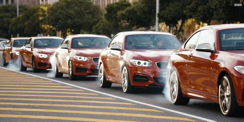 自動車CM BMW ドリフト