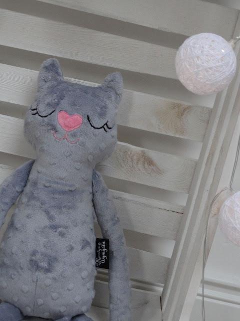 kot przytulanka handmade