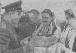 Гагарина встречают в Болгарии