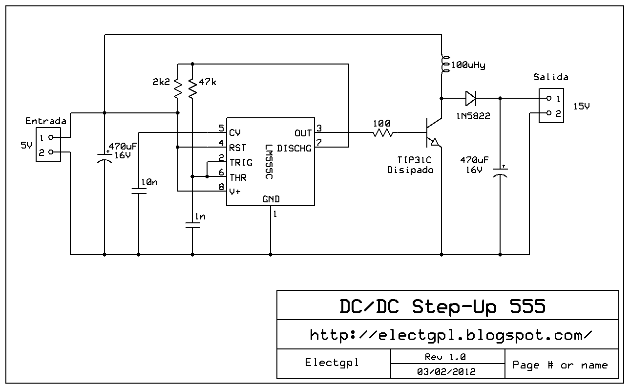 Circuito Ups 12v : Electgpl fuente step up con