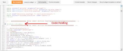 code folding blogger