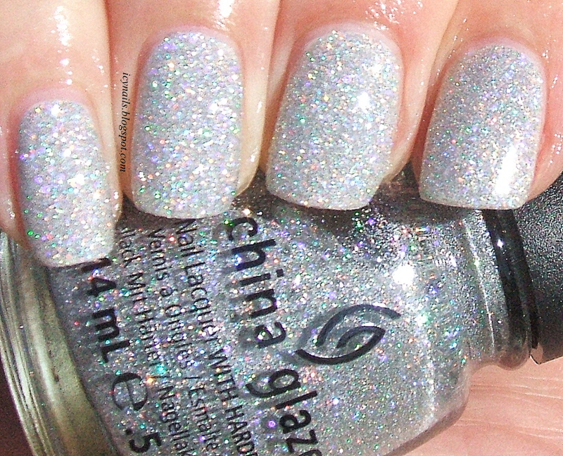 China Glaze Glistening Snow: Swatch and Review - Notes from My ...
