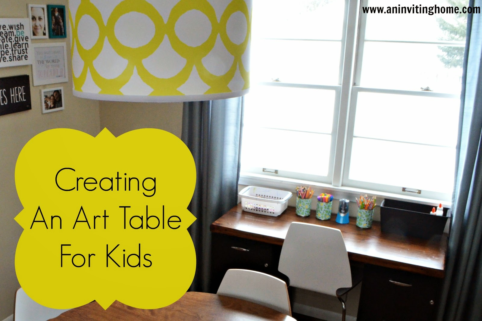 creating an art table for kids