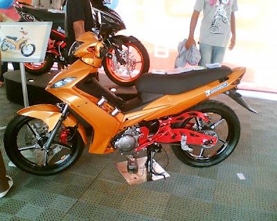 Yamaha 135LC + RB Forged Rim Black + RB Footrest V3 (harga/price