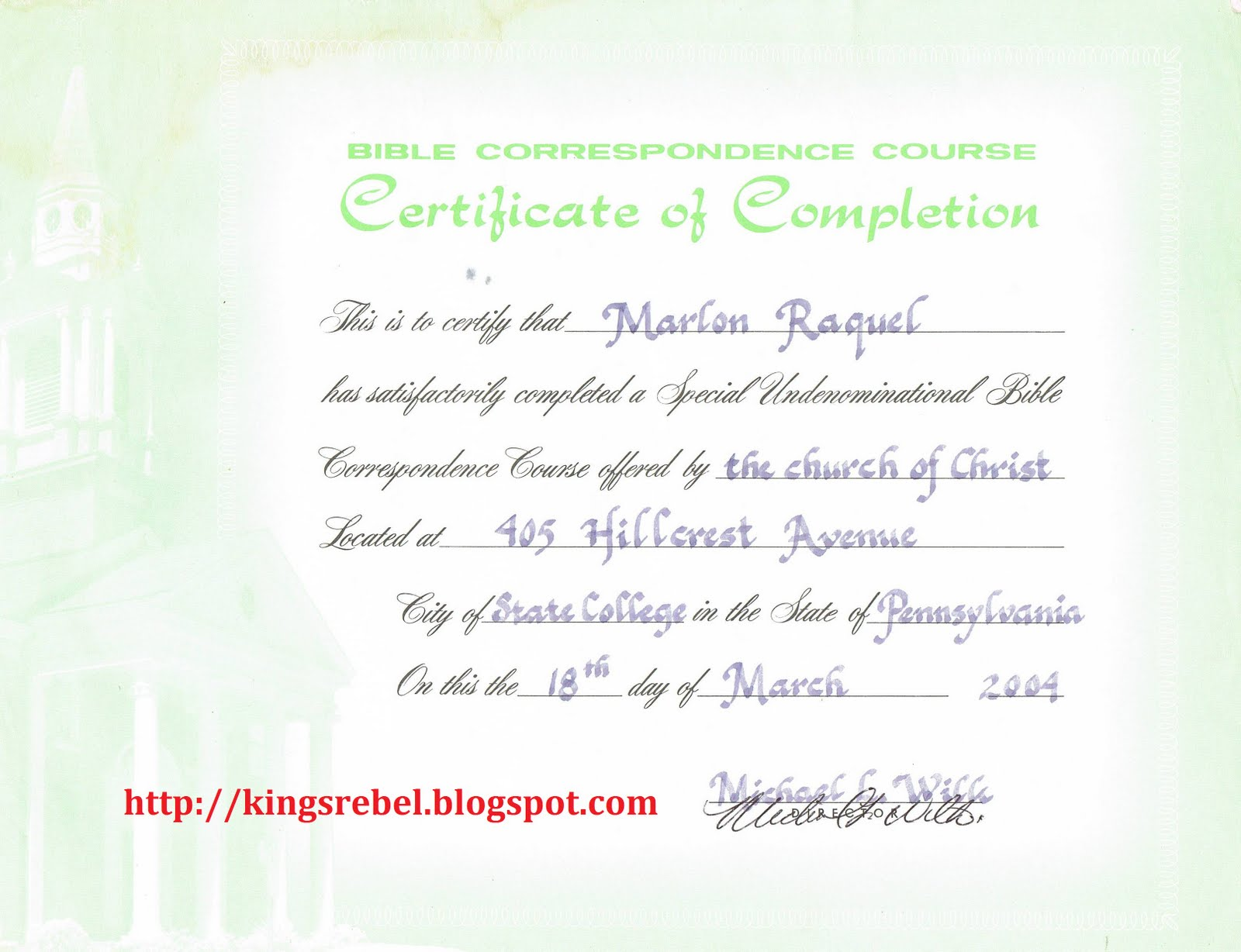 Computer Course Completion Certificate Format Keni