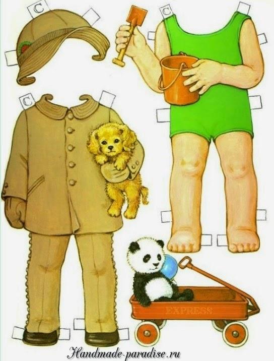 Винтажные куклы с одеждой для вырезания 3