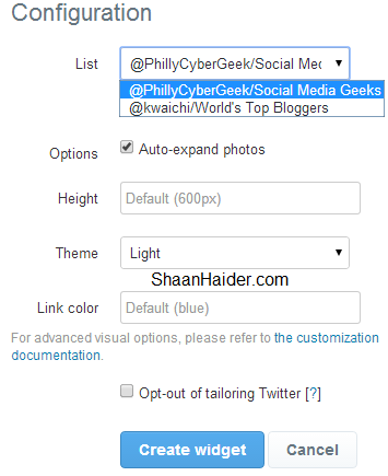HOW TO : Embed the Twitter Lists on Your Website and Blog Posts