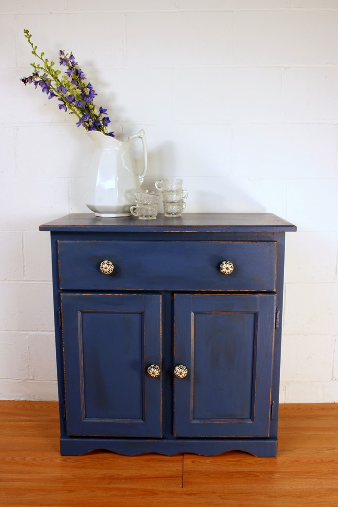 Superior 117 Indigo Blue Cupboard