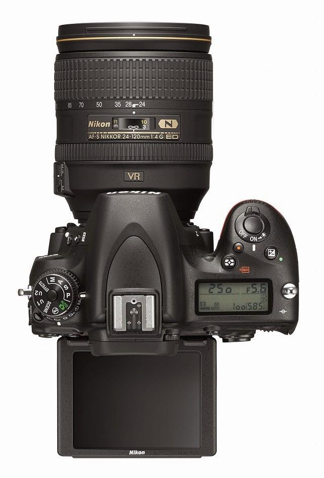 Fotografia della Nikon D750 dall'alto