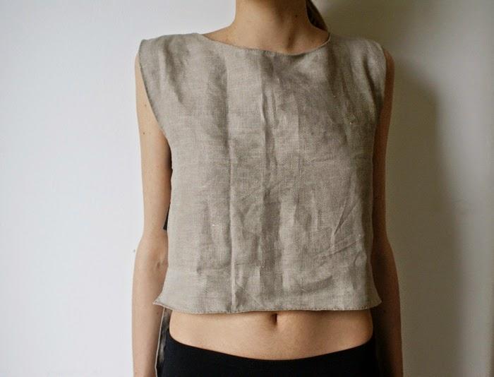 crop top cutout diy fashion