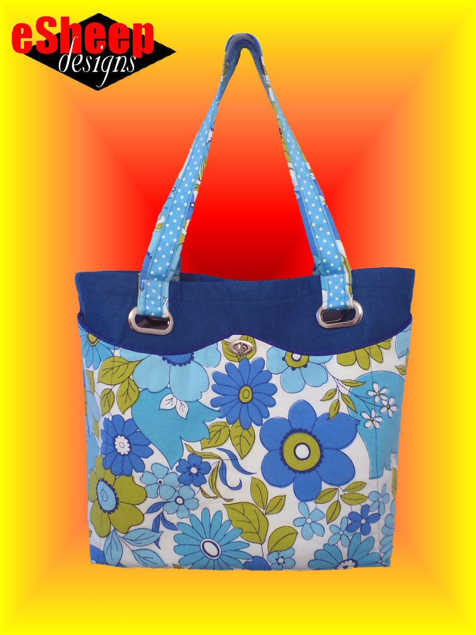 eSHEEP DESIGNS: Customizing a Free Tote Bag Pattern [Pt 1]