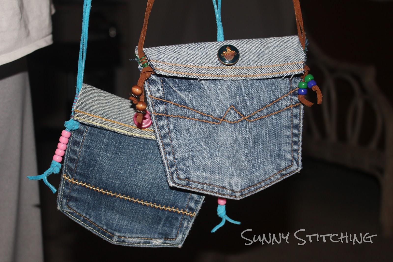 Sunny Stitching Jean Pocket Purse Tutorial