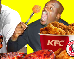 Shaq barbecued chicken