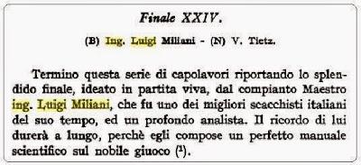 Recorte de la página 255 del libro de Pasquinelli, ABC degli Scacchi
