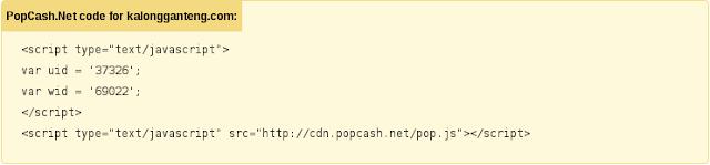 Cara Memasang Kode Iklan Popcash di Blog