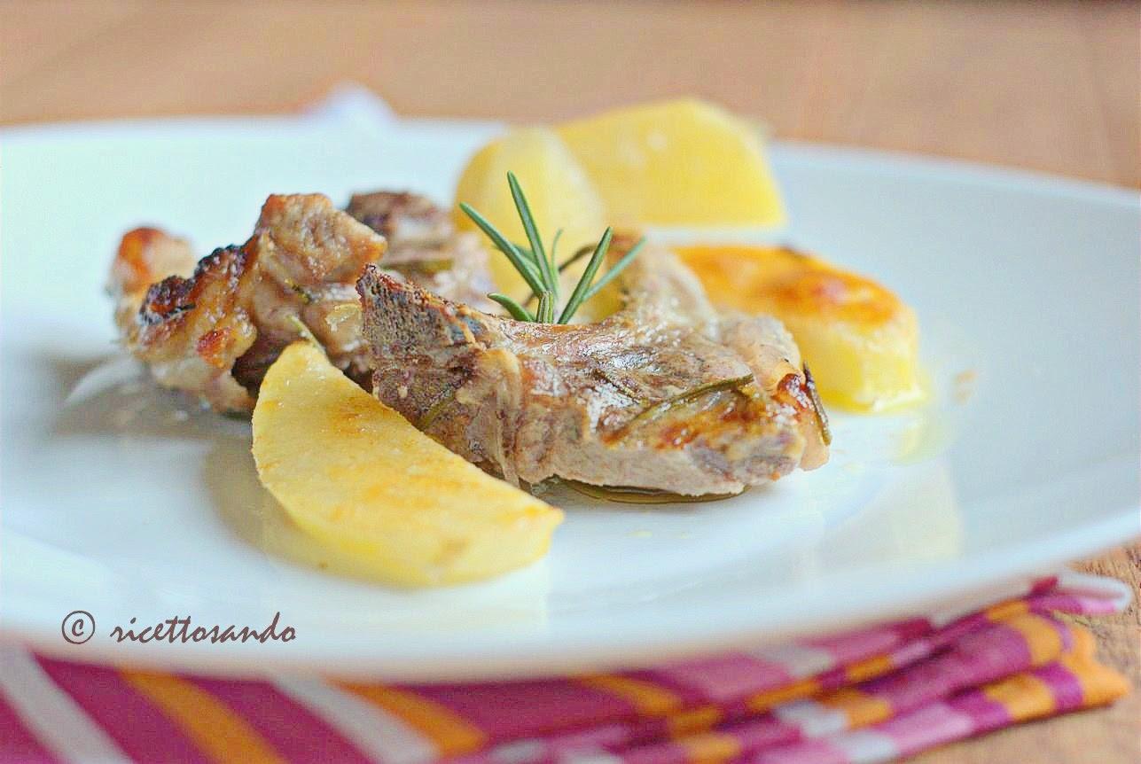 lombatine di agnello al forno con patate
