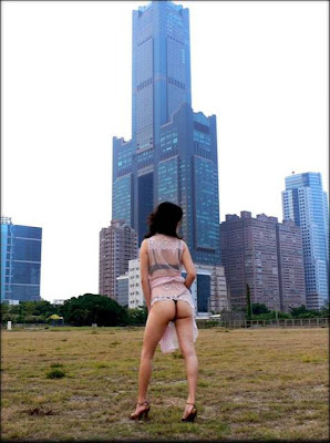 Flashing Outdoors With Big Bush In China