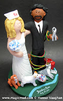 mixed race wedding cake toppers