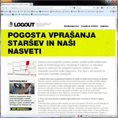 Screen shot of http://www.logout.si/projekti/po-nasvet-na-splet-za-starse/vprasanja-in-nasveti/.