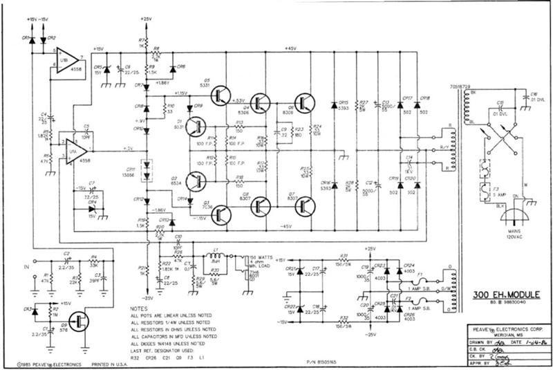 skema power amplifier gitar peavy