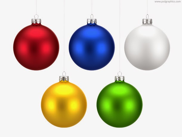 Colorful Christmas Balls Set PSD