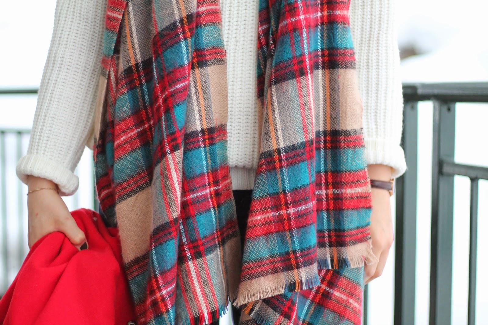 Fashionblogger Austria / Österreich / Deutsch / German / Kärnten / Carinthia / Klagenfurt / Köttmannsdorf / Classy / Edgy / Winter / Winter Style 2014 / Winter Look / Fashionista Look / Streetstyle Klagenfurt Vienna Wien Austria / Louis Vuitton Neverfull Monogramm / Red Coat Oasap / Scarf Schal Asos / Jeans Levis / Boots / How to Style Coats / Roter Mantel /  White Sweater Weißer Pullover Tally Weijl /