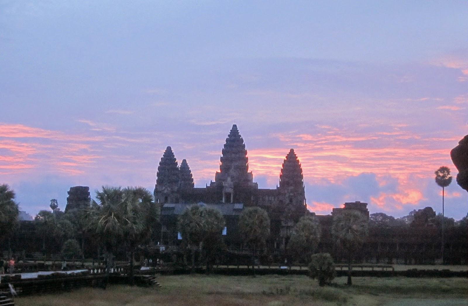 amanecer en Angkor Bat