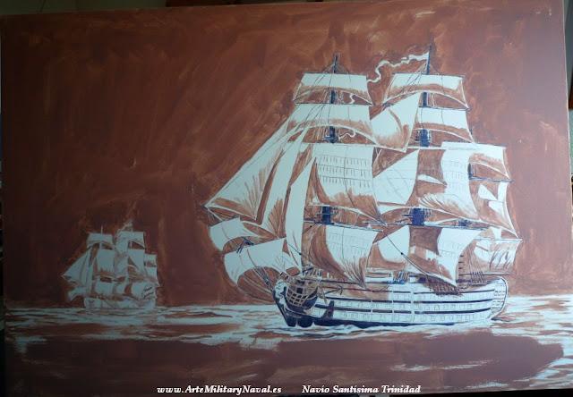Pintura del navío Santísima Trinidad 2